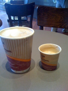 A long Coffee or a short Latte